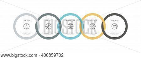 Modern Info Graphic Vector Illustration Business Management, Color Design. Information Business Time