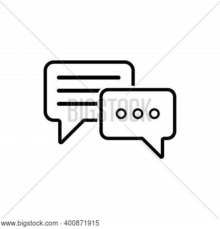 Message Vector Icon. Chat Icons. Text Message. Speech Bubbles Icons. Vector Illustration