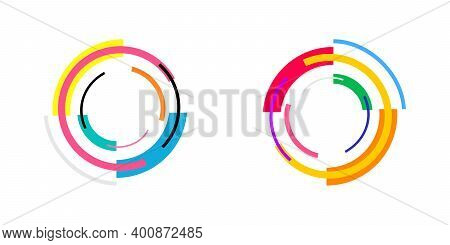 Abstract Shapes. Colorful Geometric Shapes. Graphic Element. Memphis Design. Modern Design. Vector I