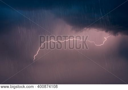 Cloudy Sky With Rain And Thunderstorm Cloudy Sky With Rain And Thunderstorm