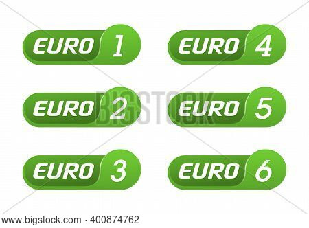 European Emission Standards Stickers Set - Euro 1, Euro 2, 3, 4, 5 And 6 - Acceptable Limits For Exh