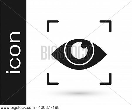 Black Eye Scan Icon Isolated On White Background. Scanning Eye. Security Check Symbol. Cyber Eye Sig
