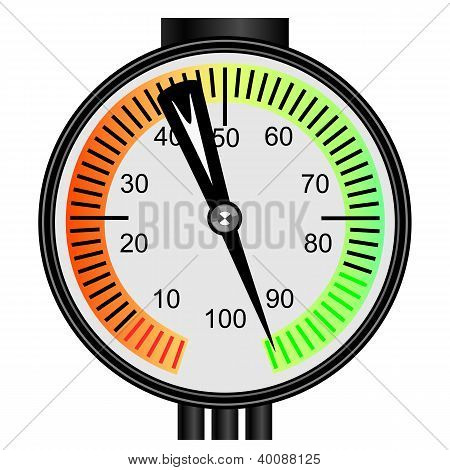 Vector gas manometer on a white background poster