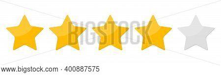 Four 4 Star Rank Sign Vector Illustration. Eps10