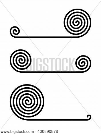 Rolled Carpet Icons Collection Isolated On White Background