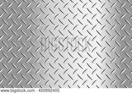 Metal Flooring Seamless Pattern. Steel Diamond Plate