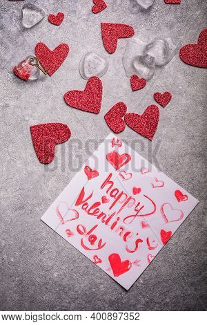 Valentines Day Background. Key Of My Heart, Love Valentine Concept.  Valentine's Card, Valentine's D