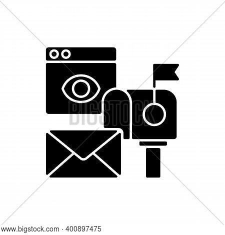 Cross Media Marketing Black Glyph Icon. Promotional Companies Commit To Surpassing Traditional Adver