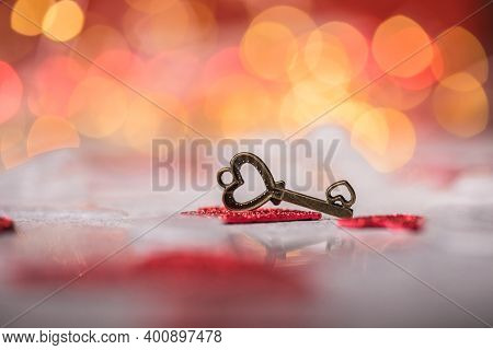 Key Of My Heart, Love Valentine Concept. Key Of My Heart, Love Valentine Concept.  Valentine\'s Card