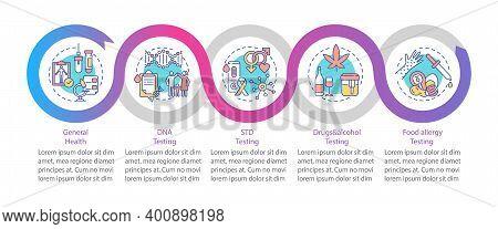 Diagnostic Tests Vector Infographic Template. Std, Drug And Alcohol Testing Presentation Design Elem