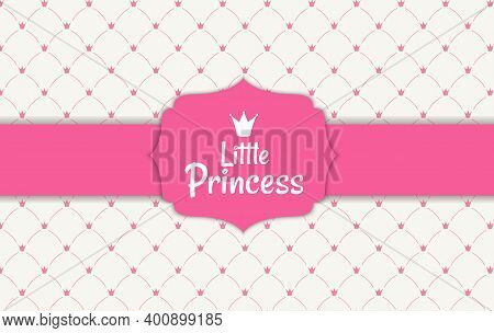 Princess Background With Crown Vector Illustration. Eps10