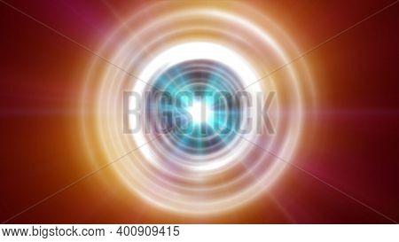 Rings Light Ray Orb Neon Ray Light Illustration