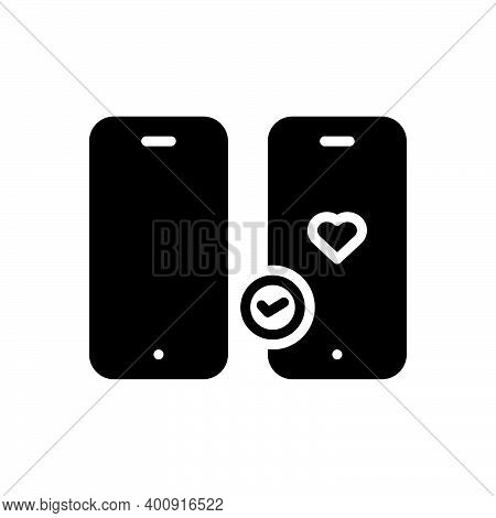 Black Solid Icon For Prefer Choose Pick Select Like-better Suggest Opt-for Function Gadget Cell Phon