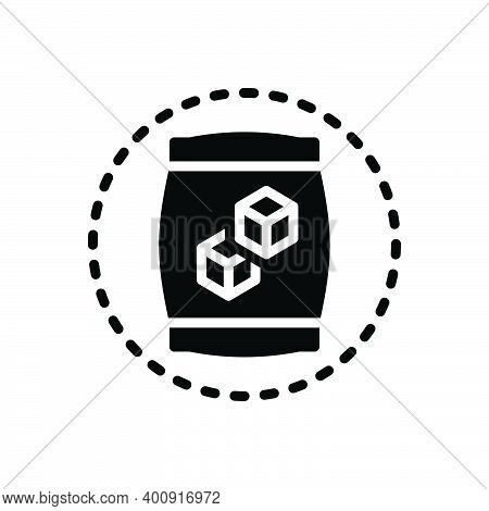 Black Solid Icon For Sugar Carbohydrate Candy Sugar-cubes Editable Sweet Sugar-bag