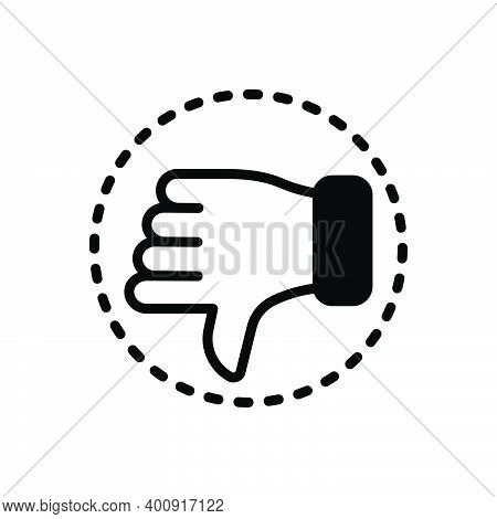 Black Solid Icon For Critic Hatred Hate Detest Detractor Reviewer Customer Review Dislike