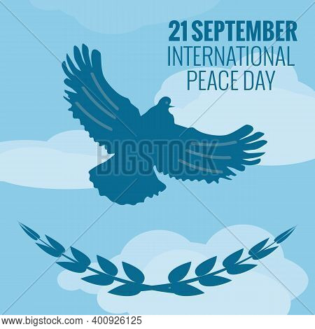 21 September International Peace Background. Vector Illustration. Eps10.