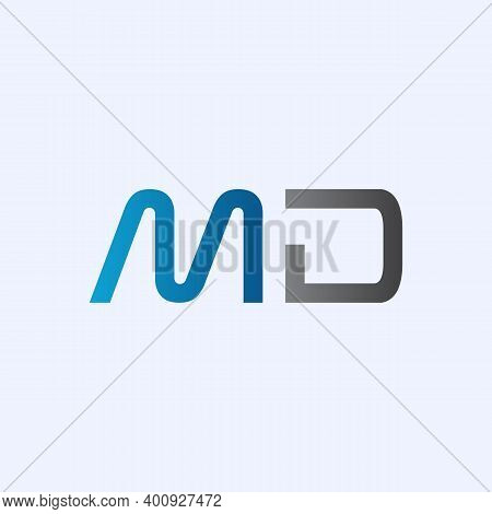 Initial Md Letter Logo Vector Template. Abstract Letter Md Logo Design. Minimalist Linked Letter Tre