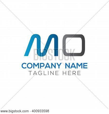 Initial Mo Letter Logo Design Vector Template. Abstract Letter Mo Logo Design