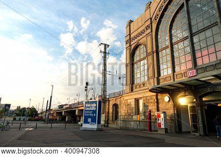 DRESDEN, GERMANY - July 23, 2017: Main train station in Dresden, Germany