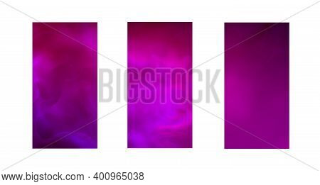 Abstract Backgrounds For Cell Phones.templates For Mobile Applications.colored Realistic Smoke Or Fo