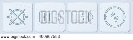 Set Line Electric Circuit Scheme, Battery Charge Level Indicator, Battery Charge Level Indicator And