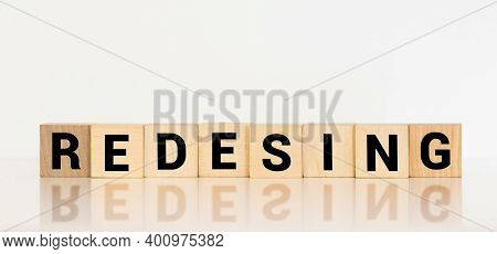 Redesign Word Made With Building Blocks, Concept