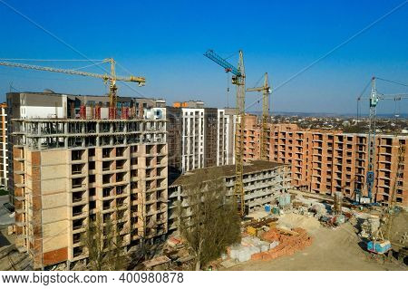 Construction And Construction Of High-rise Buildings, The Construction Industry With Working Equipme