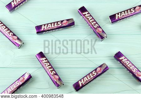 Halls Forest-berries Flavored. Halls Is The Brand Of A Popular Mentholated Cough Drop. Halls Brand A