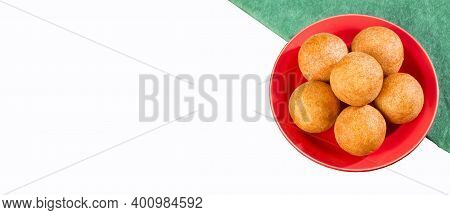 Buñuelos Colombian Traditional Food - White Background