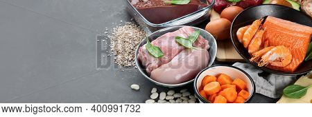 Healthy Sources Of Zinc. Healthy Eating And Diet Concept