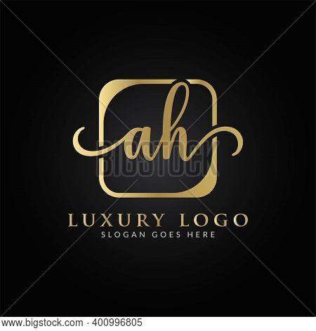Initial Ah Letter Logo Design Vector Template. Creative Luxury Letter Ah Logo Design