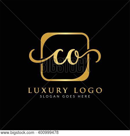 Initial Co Letter Logo Creative Modern Typography Vector Template. Creative Luxury Letter Co Logo Ve
