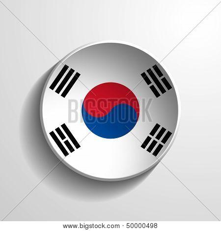 South Korea 3D Round Button