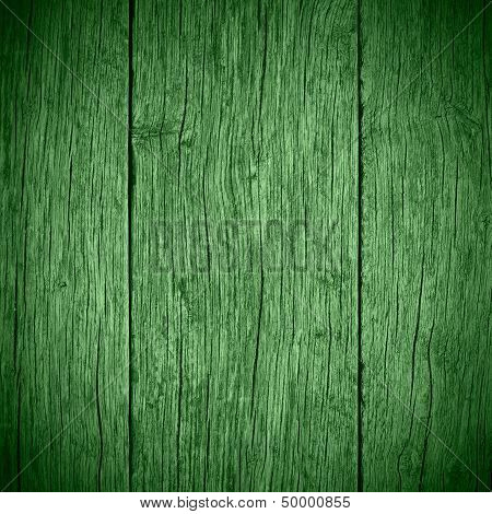 Old Green Wooden Planks