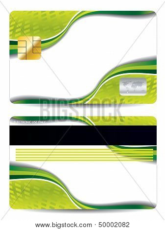 Cool Abstract Green Credit Card Design