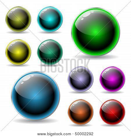 Shiny Buttons Reflect Light