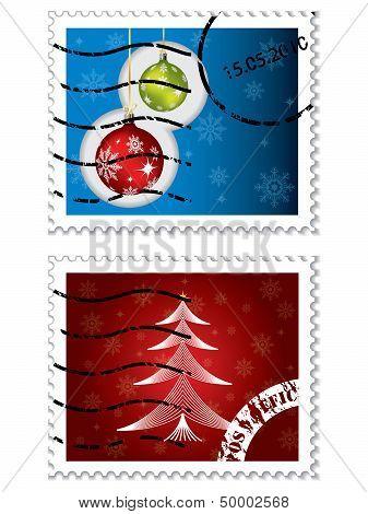 Christmas Postal Stamps
