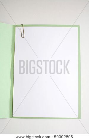 Open Work File Paper Cover