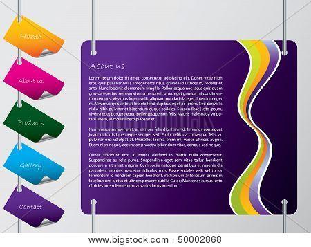 Hanging Labels Website Template