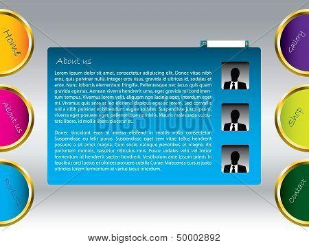 Colored Web Template