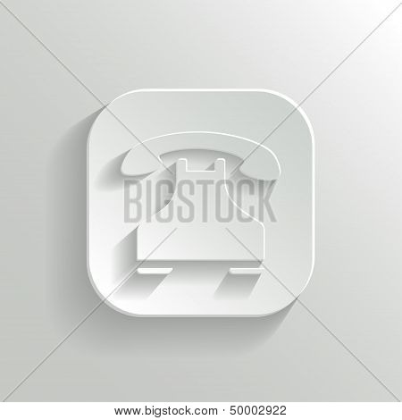 Phone Icon - Vector White App Button