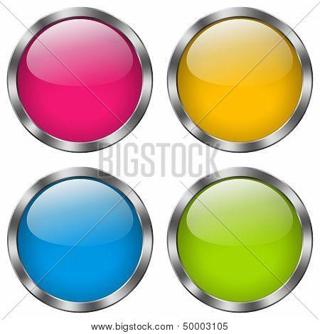 Button Metal Round Set
