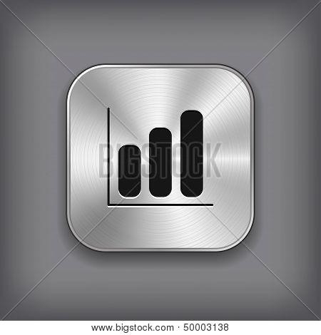 Diagram Icon - Vector Metal App Button