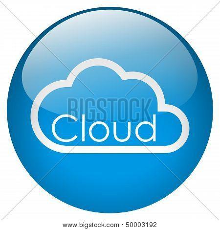 Cloud Blue Button