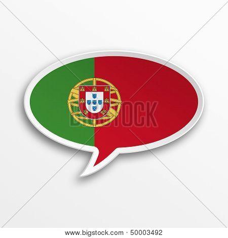 Portugal 3D Speech Bubble