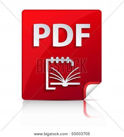 Embossed Pdf File Icon