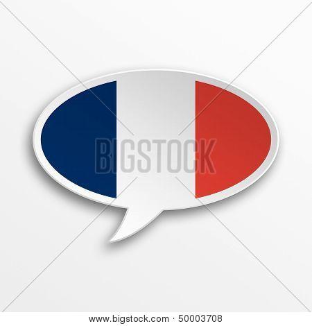 France 3D Speech Bubble