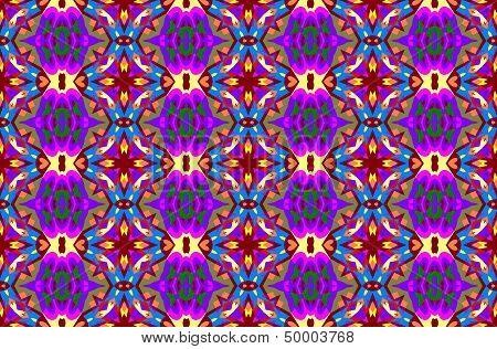 Seamless geometric pattern in purple color