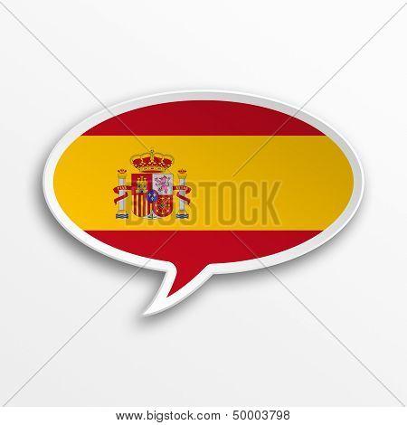 Spain 3D Speech Bubble