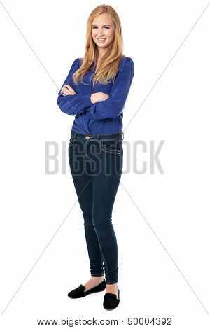 Confident Successful Woman With Folded Arms